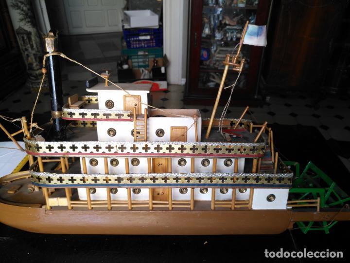 Radio Control: 2 grandes maquetas barcos con luz de vapor mississippi misisipi . a restaurar , HAGA OFERTA - Foto 16 - 132073842