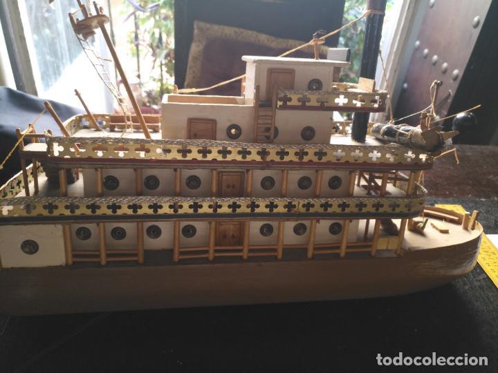 Radio Control: 2 grandes maquetas barcos con luz de vapor mississippi misisipi . a restaurar , HAGA OFERTA - Foto 19 - 132073842