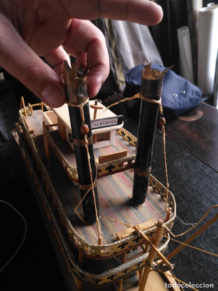 Radio Control: 2 grandes maquetas barcos con luz de vapor mississippi misisipi . a restaurar , HAGA OFERTA - Foto 21 - 132073842