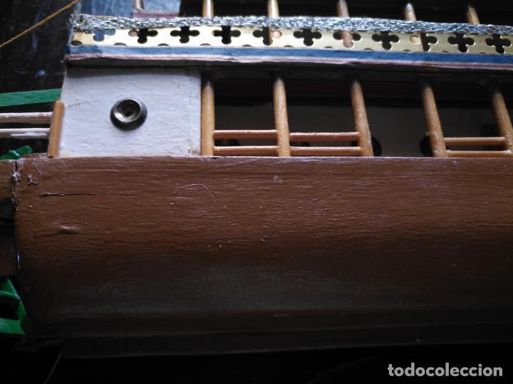 Radio Control: 2 grandes maquetas barcos con luz de vapor mississippi misisipi . a restaurar , HAGA OFERTA - Foto 23 - 132073842