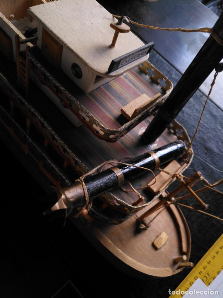 Radio Control: 2 grandes maquetas barcos con luz de vapor mississippi misisipi . a restaurar , HAGA OFERTA - Foto 24 - 132073842
