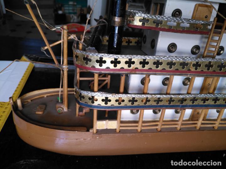 Radio Control: 2 grandes maquetas barcos con luz de vapor mississippi misisipi . a restaurar , HAGA OFERTA - Foto 25 - 132073842