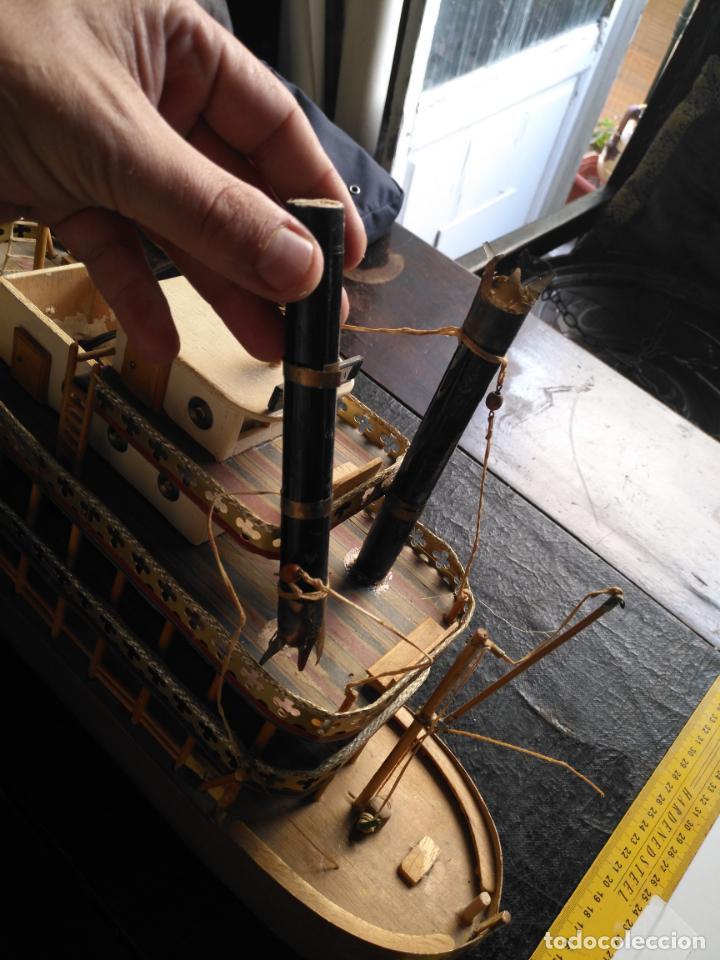 Radio Control: 2 grandes maquetas barcos con luz de vapor mississippi misisipi . a restaurar , HAGA OFERTA - Foto 26 - 132073842