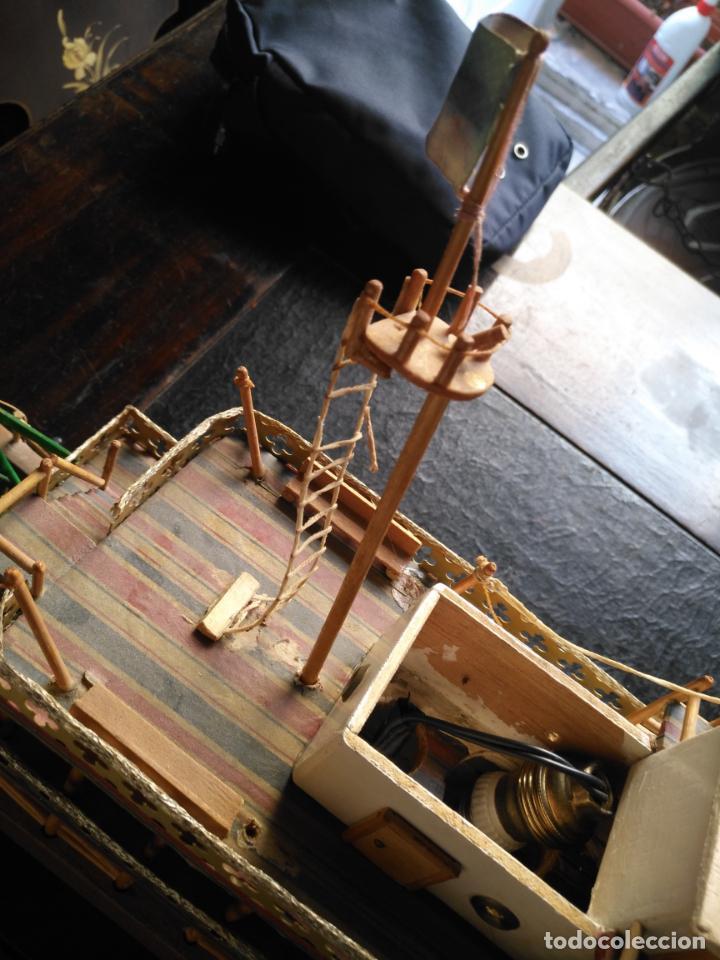 Radio Control: 2 grandes maquetas barcos con luz de vapor mississippi misisipi . a restaurar , HAGA OFERTA - Foto 27 - 132073842