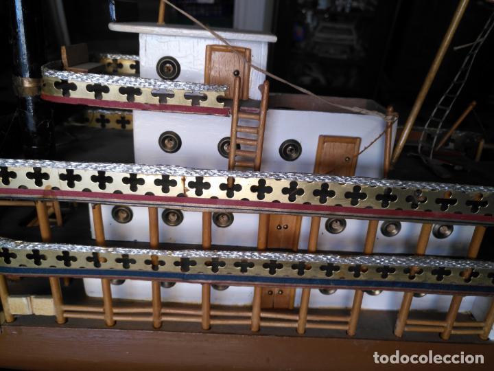 Radio Control: 2 grandes maquetas barcos con luz de vapor mississippi misisipi . a restaurar , HAGA OFERTA - Foto 30 - 132073842