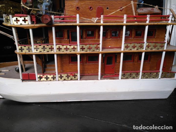Radio Control: 2 grandes maquetas barcos con luz de vapor mississippi misisipi . a restaurar , HAGA OFERTA - Foto 31 - 132073842