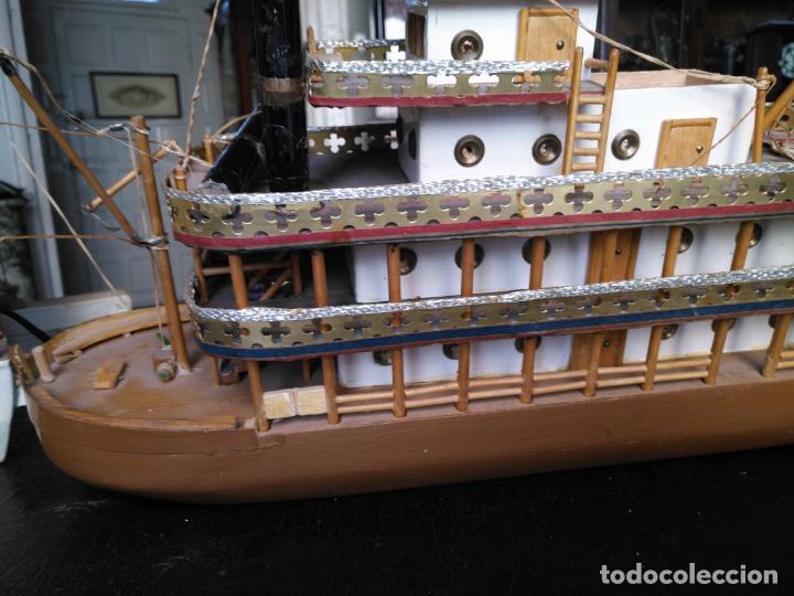 Radio Control: 2 grandes maquetas barcos con luz de vapor mississippi misisipi . a restaurar , HAGA OFERTA - Foto 32 - 132073842