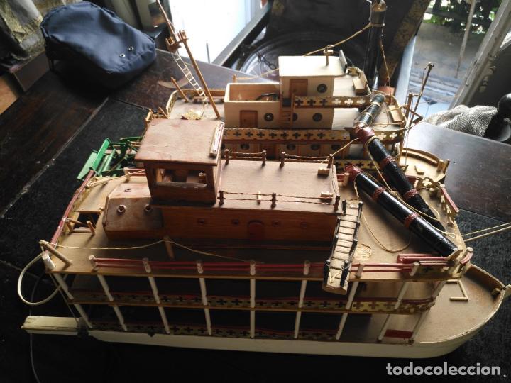 Radio Control: 2 grandes maquetas barcos con luz de vapor mississippi misisipi . a restaurar , HAGA OFERTA - Foto 33 - 132073842