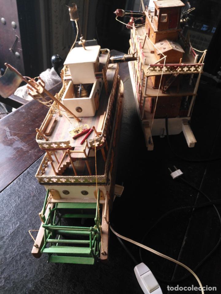 Radio Control: 2 grandes maquetas barcos con luz de vapor mississippi misisipi . a restaurar , HAGA OFERTA - Foto 34 - 132073842