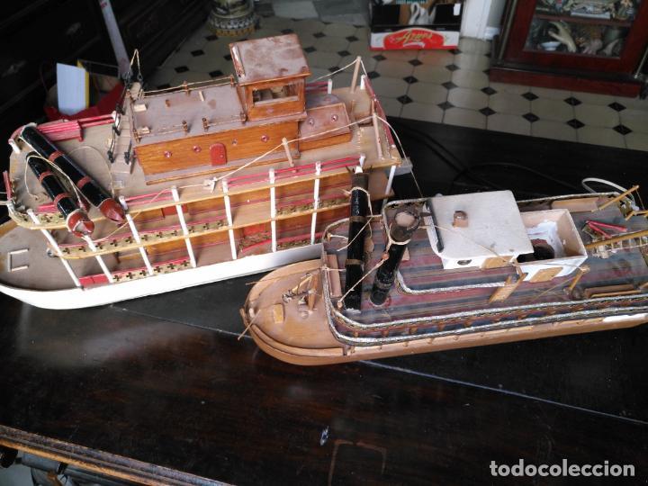 Radio Control: 2 grandes maquetas barcos con luz de vapor mississippi misisipi . a restaurar , HAGA OFERTA - Foto 35 - 132073842