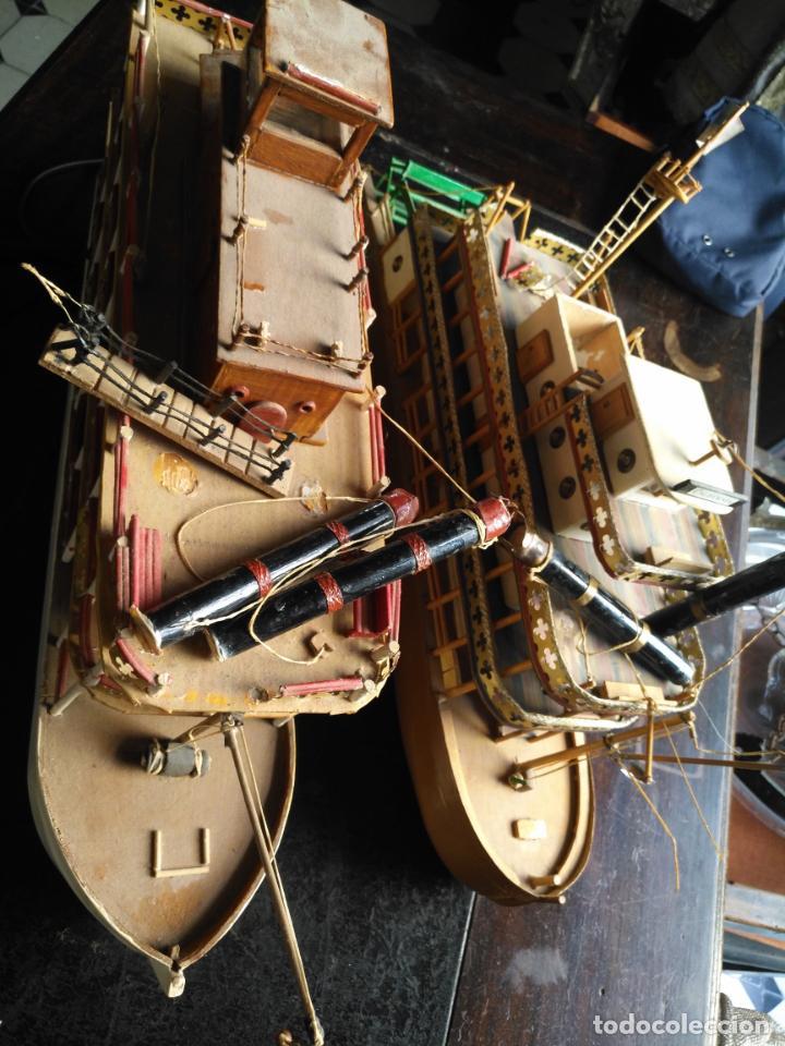 Radio Control: 2 grandes maquetas barcos con luz de vapor mississippi misisipi . a restaurar , HAGA OFERTA - Foto 22 - 132073842