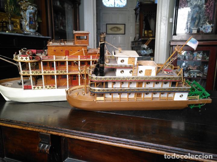 Radio Control: 2 grandes maquetas barcos con luz de vapor mississippi misisipi . a restaurar , HAGA OFERTA - Foto 37 - 132073842