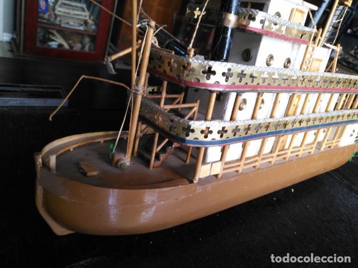 Radio Control: 2 grandes maquetas barcos con luz de vapor mississippi misisipi . a restaurar , HAGA OFERTA - Foto 39 - 132073842