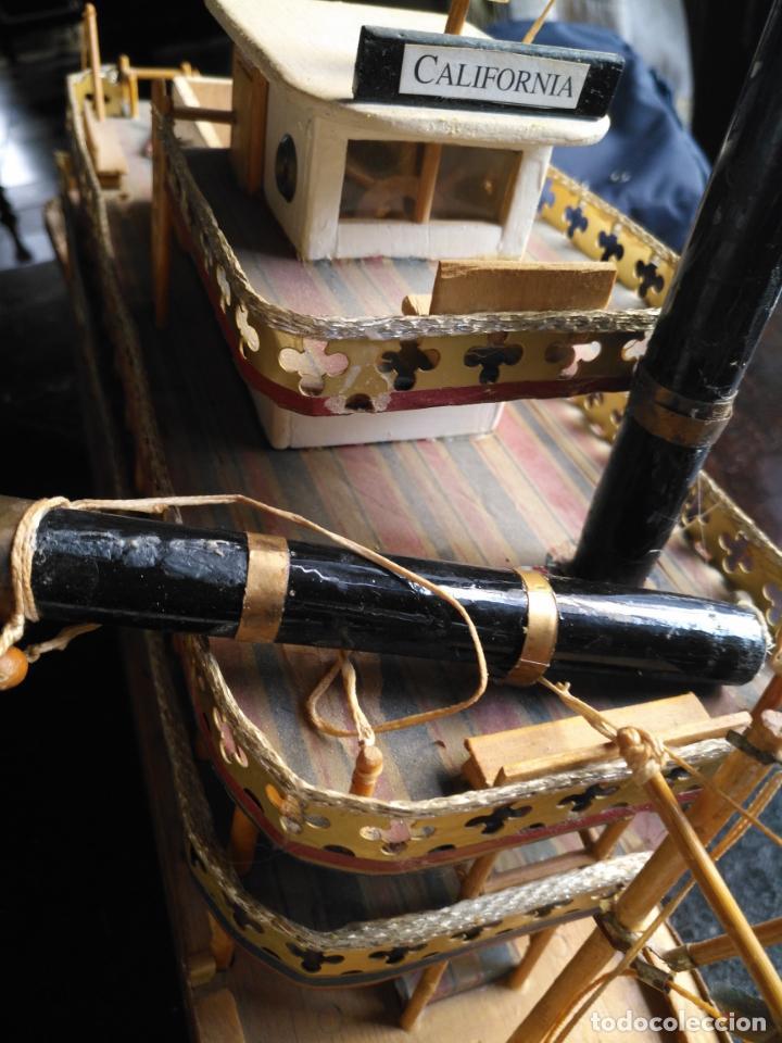 Radio Control: 2 grandes maquetas barcos con luz de vapor mississippi misisipi . a restaurar , HAGA OFERTA - Foto 41 - 132073842