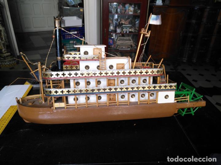 Radio Control: 2 grandes maquetas barcos con luz de vapor mississippi misisipi . a restaurar , HAGA OFERTA - Foto 42 - 132073842