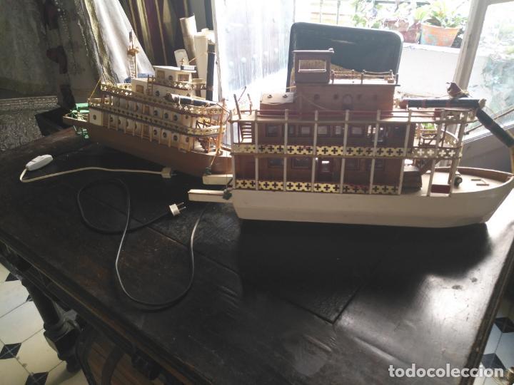 Radio Control: 2 grandes maquetas barcos con luz de vapor mississippi misisipi . a restaurar , HAGA OFERTA - Foto 43 - 132073842