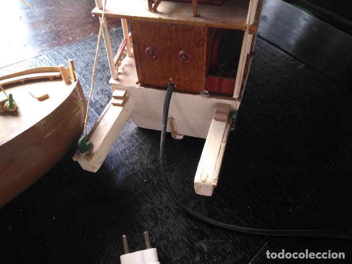 Radio Control: 2 grandes maquetas barcos con luz de vapor mississippi misisipi . a restaurar , HAGA OFERTA - Foto 46 - 132073842