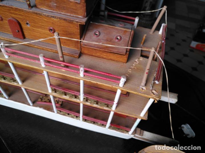 Radio Control: 2 grandes maquetas barcos con luz de vapor mississippi misisipi . a restaurar , HAGA OFERTA - Foto 47 - 132073842
