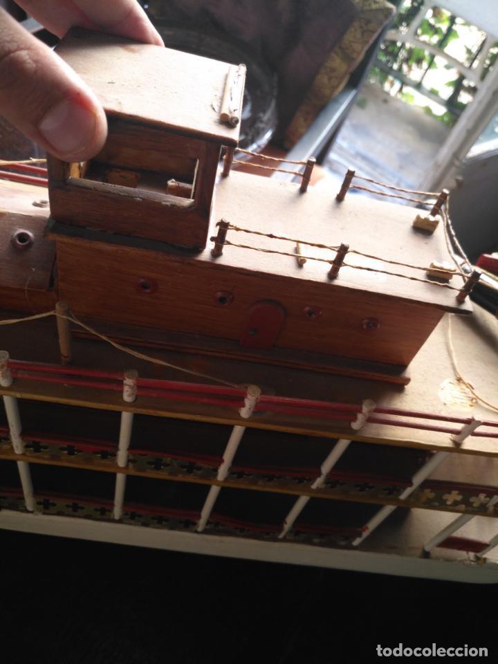 Radio Control: 2 grandes maquetas barcos con luz de vapor mississippi misisipi . a restaurar , HAGA OFERTA - Foto 48 - 132073842