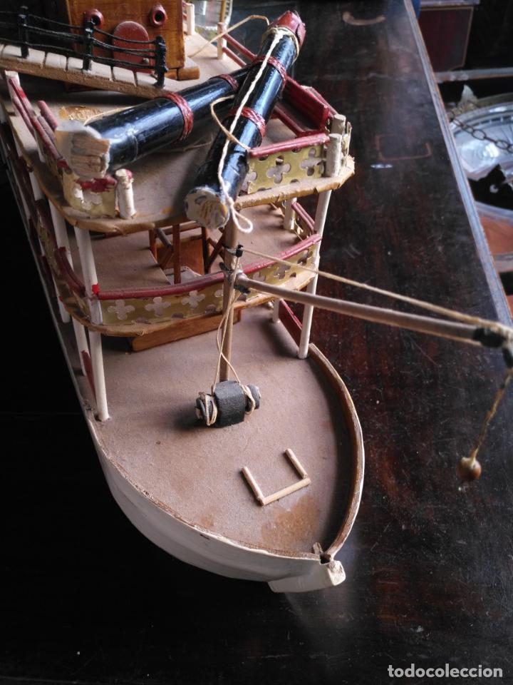 Radio Control: 2 grandes maquetas barcos con luz de vapor mississippi misisipi . a restaurar , HAGA OFERTA - Foto 49 - 132073842