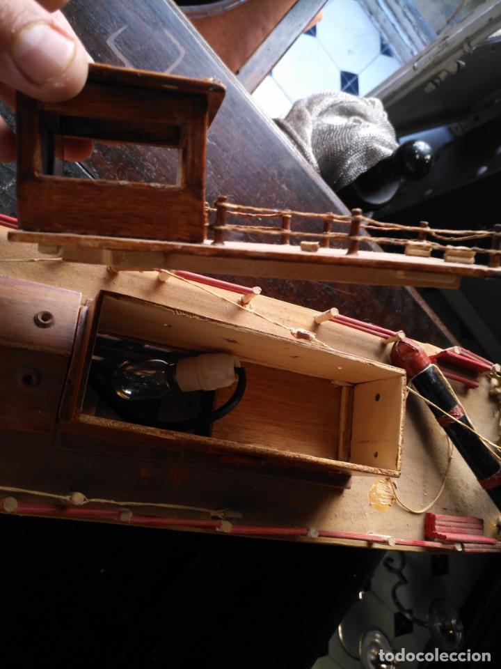 Radio Control: 2 grandes maquetas barcos con luz de vapor mississippi misisipi . a restaurar , HAGA OFERTA - Foto 50 - 132073842