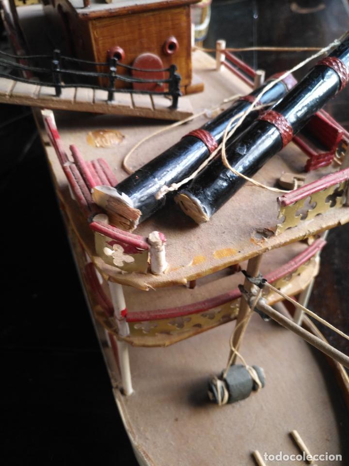 Radio Control: 2 grandes maquetas barcos con luz de vapor mississippi misisipi . a restaurar , HAGA OFERTA - Foto 51 - 132073842