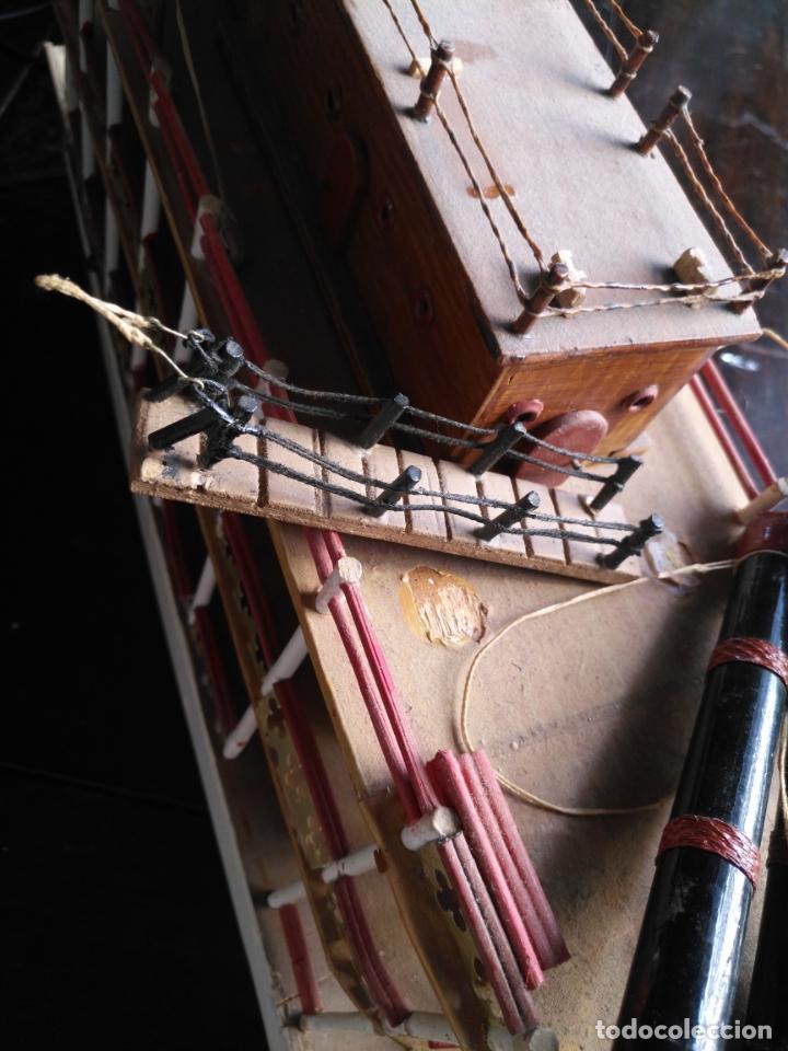 Radio Control: 2 grandes maquetas barcos con luz de vapor mississippi misisipi . a restaurar , HAGA OFERTA - Foto 52 - 132073842