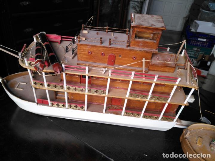 Radio Control: 2 grandes maquetas barcos con luz de vapor mississippi misisipi . a restaurar , HAGA OFERTA - Foto 53 - 132073842