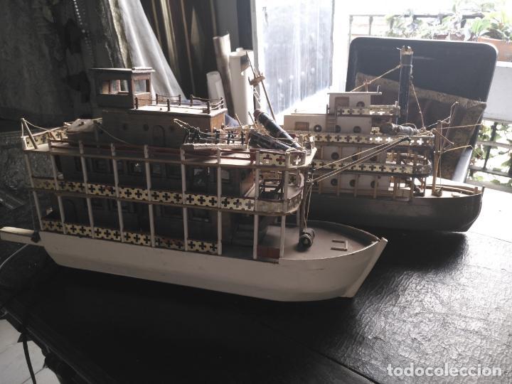 Radio Control: 2 grandes maquetas barcos con luz de vapor mississippi misisipi . a restaurar , HAGA OFERTA - Foto 54 - 132073842