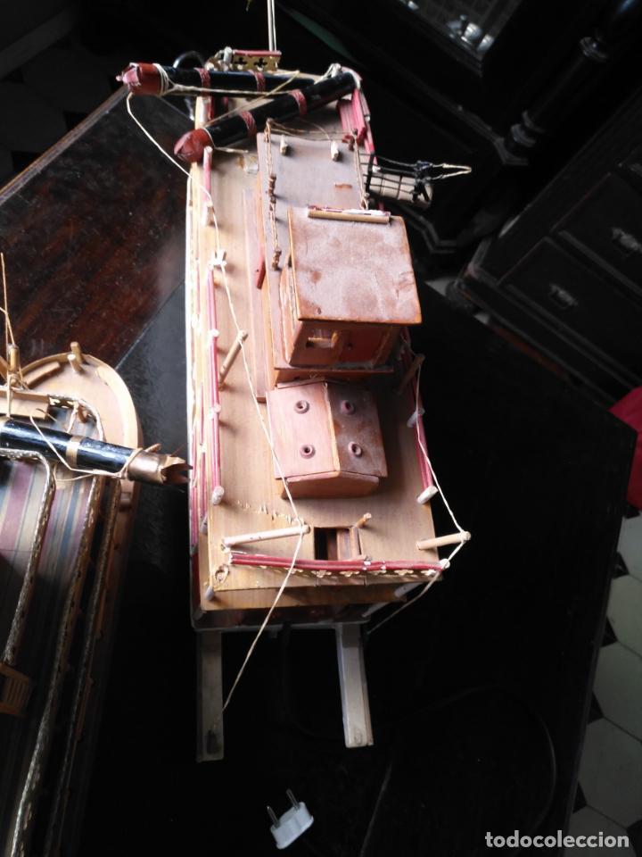 Radio Control: 2 grandes maquetas barcos con luz de vapor mississippi misisipi . a restaurar , HAGA OFERTA - Foto 55 - 132073842