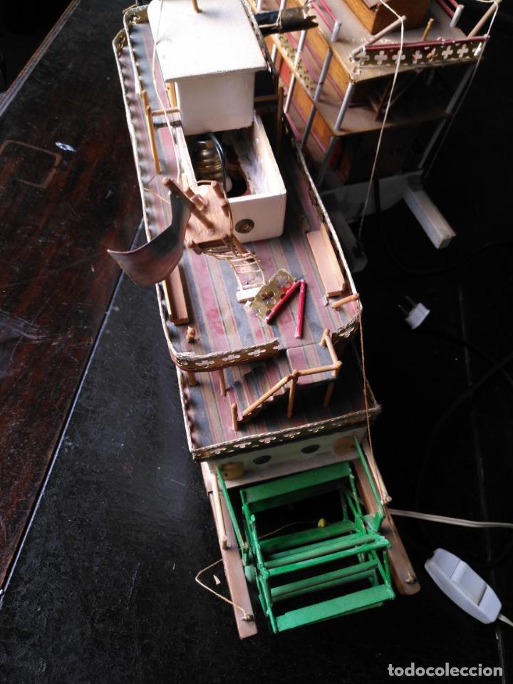 Radio Control: 2 grandes maquetas barcos con luz de vapor mississippi misisipi . a restaurar , HAGA OFERTA - Foto 56 - 132073842