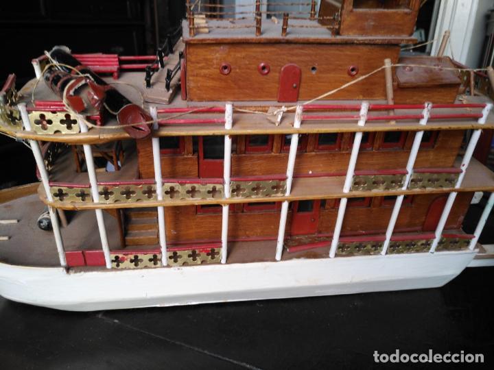 Radio Control: 2 grandes maquetas barcos con luz de vapor mississippi misisipi . a restaurar , HAGA OFERTA - Foto 57 - 132073842