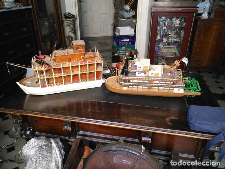 Radio Control: 2 grandes maquetas barcos con luz de vapor mississippi misisipi . a restaurar , HAGA OFERTA - Foto 58 - 132073842
