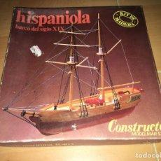 Radio Control: MAQUETA DE BARCO LA HISPANIOLA DE LA SERIE MARITIMA R403 DE CONSTRUCTO. Lote 206790631