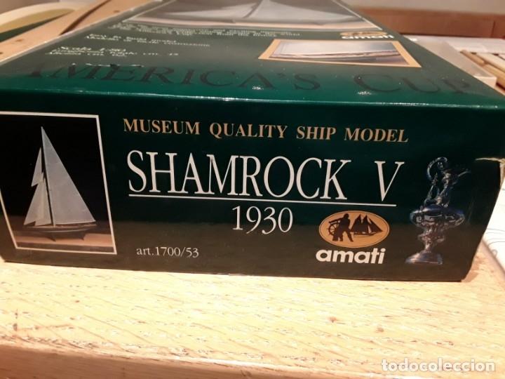 Radio Control: Shamrock V, Copa América 1930, Amati Italia.escala 1:80 - Foto 10 - 136820138