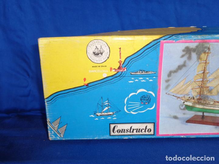 Radio Control: CONSTRUCTO - MAQUETA BARCO ANTIGUO,SERIE UNIVERSAL -EAGLE- SAN LUIS - MENORCA - COMPLETO! SM - Foto 5 - 142472222