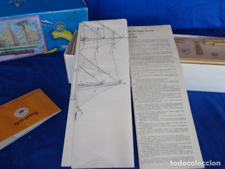 Radio Control: CONSTRUCTO - MAQUETA BARCO ANTIGUO,SERIE UNIVERSAL -EAGLE- SAN LUIS - MENORCA - COMPLETO! SM - Foto 15 - 142472222