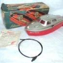 Radio Control: BOTE LANCHA SCHUCO ELEKTRO - CABINO 5511U EN CAJA CON MANUAL Y CABLE A BATERIA AÑOS 50 FUNCIONANDO. Lote 158335638