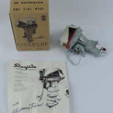 Radio Control: MOTOR FUERABORDA ORIGINAL JUGUETE, RARO 1960 FLEET LINE EVINRUDE STARFLITE II 75 HP, CON . Lote 159612926