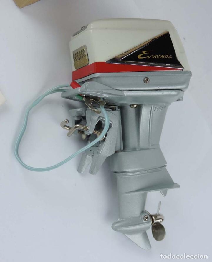 Radio Control: Motor fueraborda original juguete, raro 1960 Fleet Line Evinrude Starflite II 75 HP, con - Foto 2 - 159612926