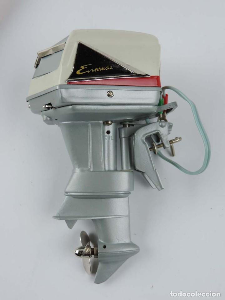 Radio Control: Motor fueraborda original juguete, raro 1960 Fleet Line Evinrude Starflite II 75 HP, con - Foto 4 - 159612926