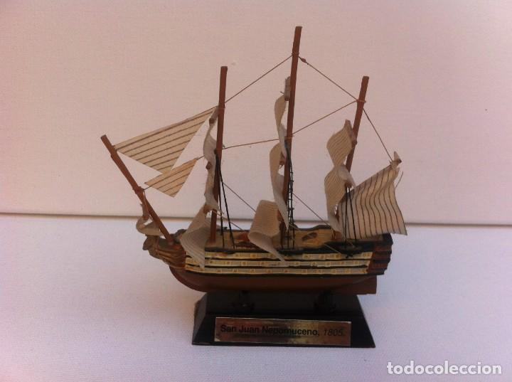 MAQUETA BARCO MINIATURA. LONGITUD: 11CM. SAN JUAN NEPOMUCENO, 1805 (Juguetes - Modelismo y Radiocontrol - Radiocontrol - Barcos)