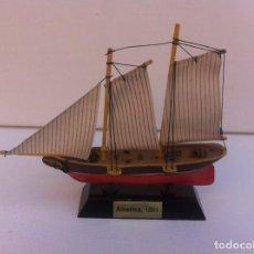 Radio Control: MAQUETA BARCO MINIATURA. LONGITUD: 12CM. AMÉRICA, 1851. Lote 160654966