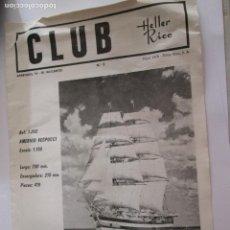 Radio Control: HOJA DOBLE - CLUB HELLER RICO - AMERIGO VESPUCCI Y OTROS MODELOS - 32X22. Lote 163759542