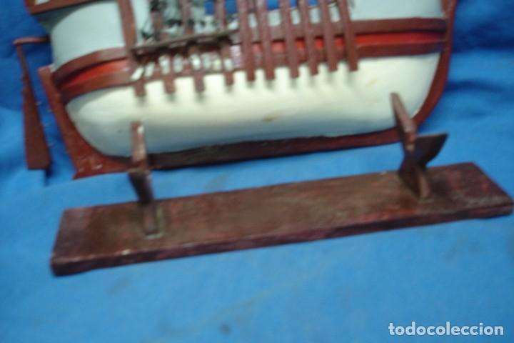Radio Control: ANTIGUA MAQUETA DE BARCO ECHA ARTESANAL MUY TRABAJADA - Foto 4 - 166955156
