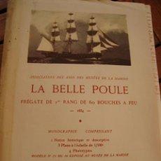 Radio Control: PLANOS MAQUETA LA BELLE POULE. MUSÉE DE LA MARINE. PARIS, 1953.. Lote 167661308