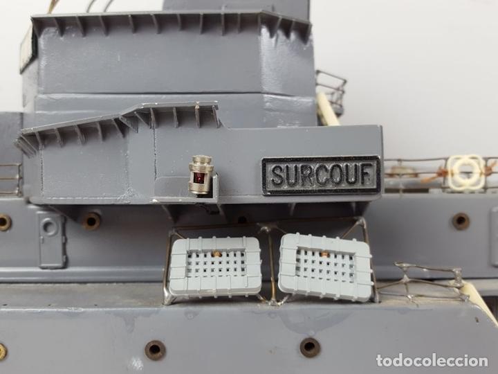 Radio Control: MAQUETA DE RADIO CONTROL. DESTRUCTOR FRANCÉS. MADERA Y RESINA PINTADA A MANO. ESPAÑA. SIGLO XX. - Foto 7 - 169984128