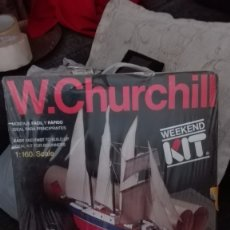 Radio Control: MAQUETA W.CHURCHILL. WEEKEND KIT.ESCALA 1:160.AÑO 1990. Lote 175909508