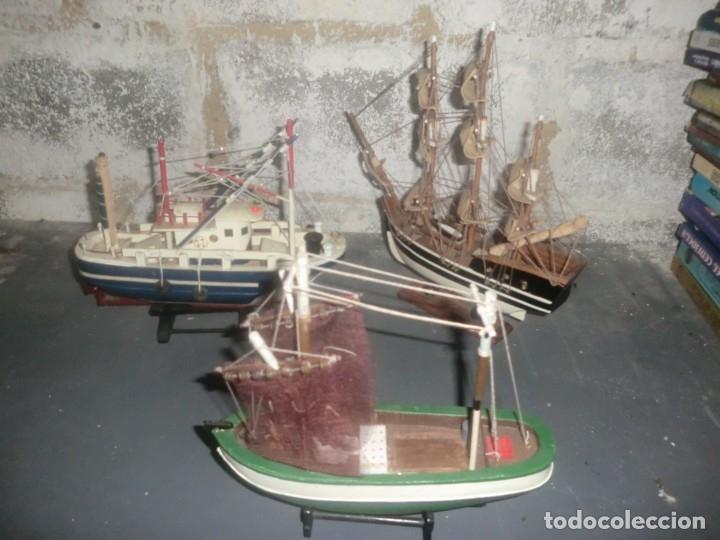 LOTE DE TRES MAQUETAS DE BARCOS PESQUEROS ETC (Juguetes - Modelismo y Radiocontrol - Radiocontrol - Barcos)