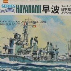 Radio Control: MAQUETA BARCO DESTRUCTOR HAYANAMI, REF. 48, 1/700, HASEGAWA. Lote 183472930